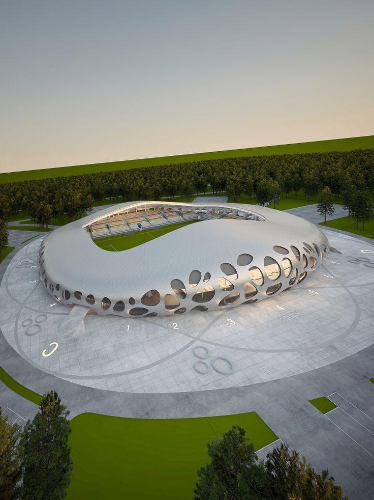 In Progress: Borisov Football Stadium / OFIS Architects #architecture ☮k☮