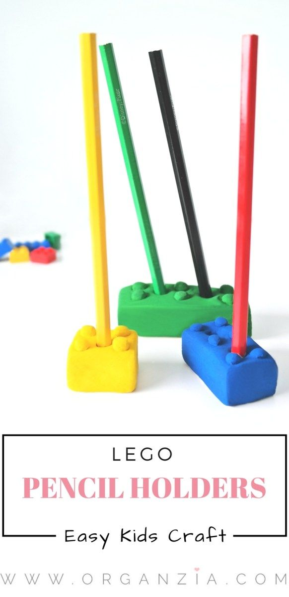 Here's a great idea for your next kids craft project.Make these cool Lego pencil holders, and keep all those favorite pencils in place, and organized!