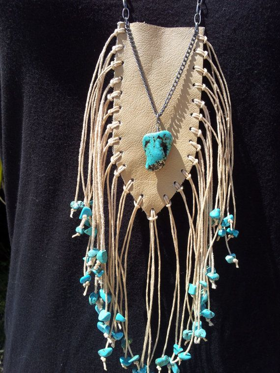 Turquoise nuggets Desert Falls necklace pouch