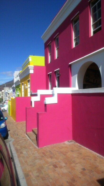 Vibrant colours of the Bo Kaap houses. Cape Town.