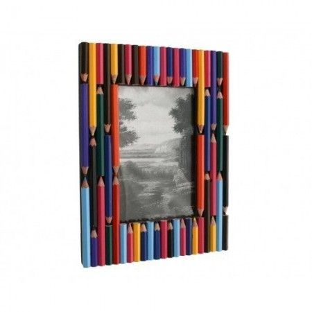 4-x-6-Unique-Recycle-TelephoneColored-PencilKeyboard-Keys-Photo-Frame-Colored-Pencil-0