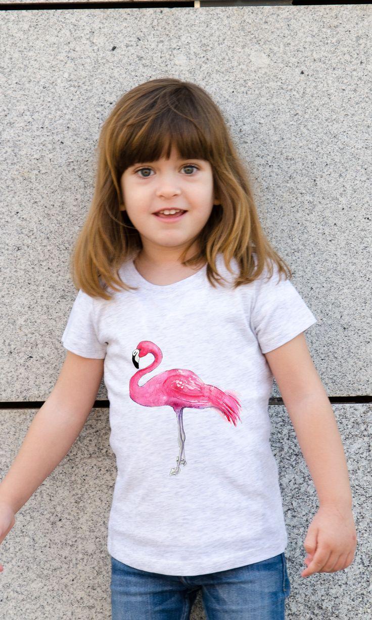 The Baley Tee - Kristina Heredia - Pink Flamingo One - Ninoti - Wear it with Art