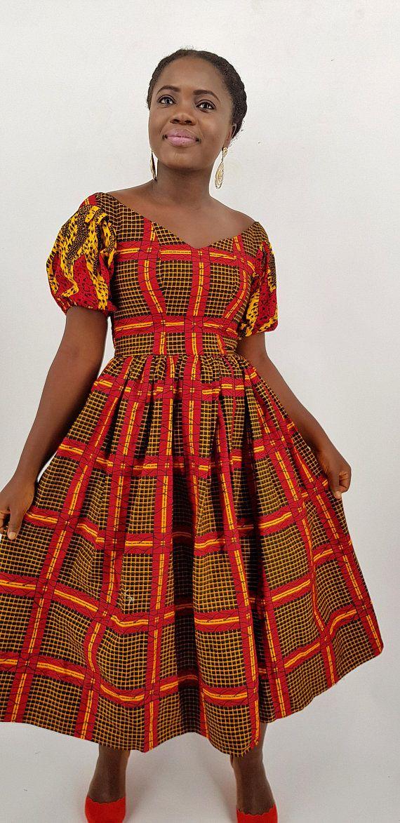 d63a699fdb34 Harry African midi dress//African dress / Women dress / African American   African  maxi dresses,Christmas dress, African party dress, chr   African dress, ...