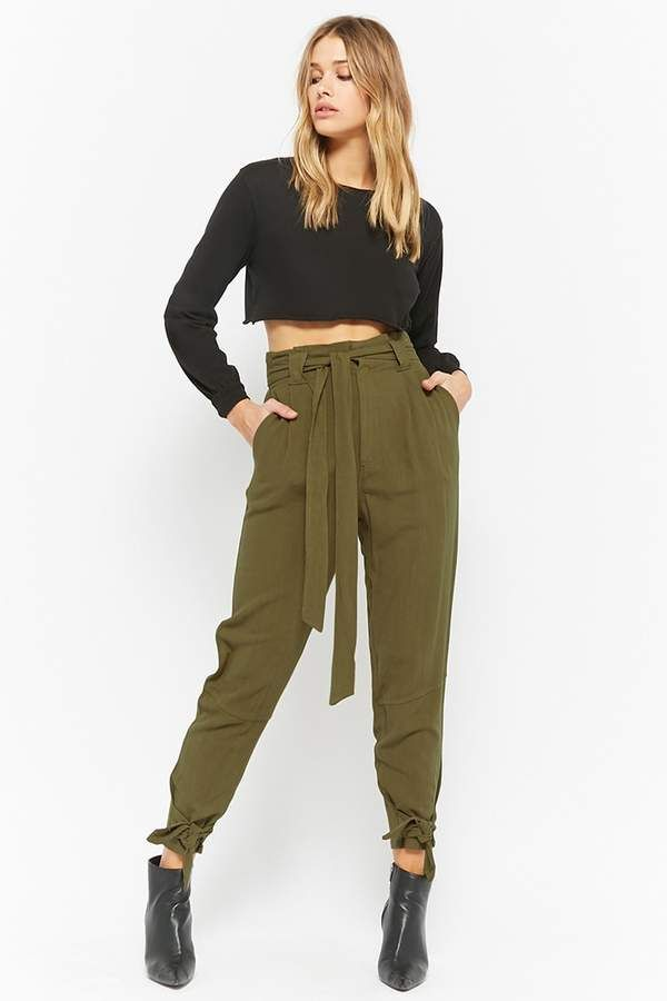 dee43ef37e Forever 21 Linen-Blend Paperbag Pants | *** Outfit Ideas ...