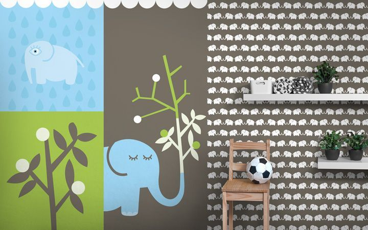 kolekce Elephants, for him - designové tapety DecorPlay