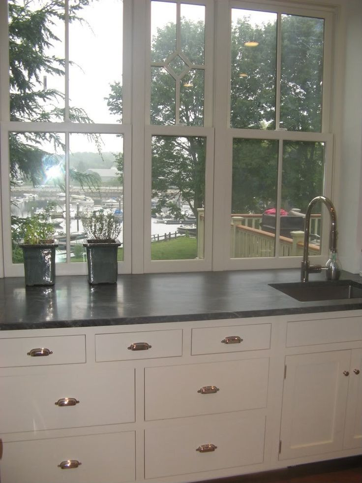 Lovely counter height window kitchen pinterest for Window kitchen