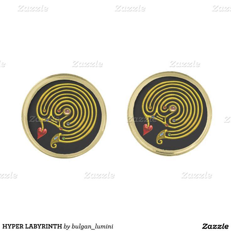 HYPER LABYRINTH GOLD CUFFLINKS