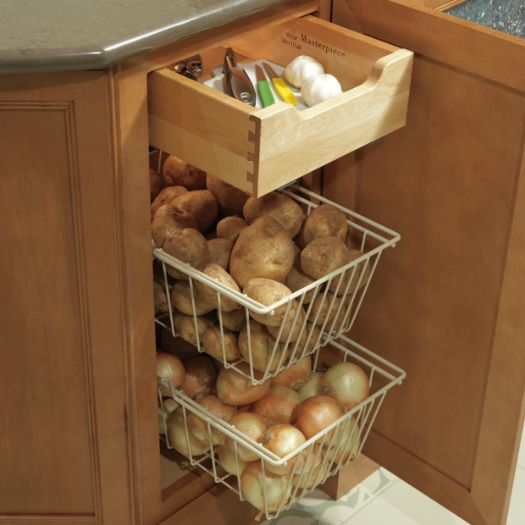 Vegetable Bins With Deluxe Roll Out Trays