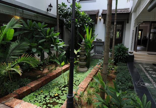 The green courtyard is the home's fulcrum in a chennai home by benny kuriakose