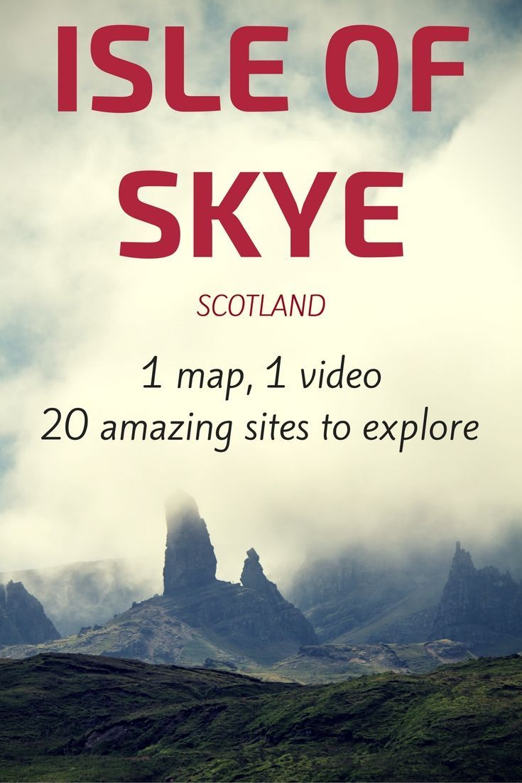Map and things to do on the Isle of Skye Scotland - Portree, Fairy Pools, Quiraing, Castle and off the beaten path locations... Video and photos at http://www.zigzagonearth.com/things-to-do-in-skye-island-scotland/