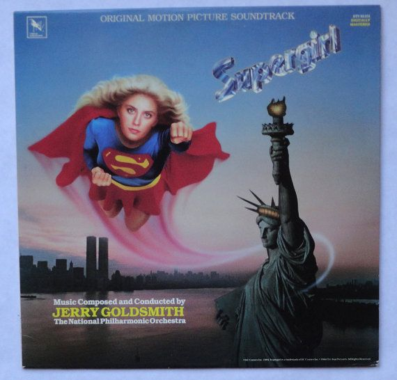 Rare Supergirl Vinyl Soundtrack 1984 LP Jerry by MovieVinyl    DID YOU KNOW? The album cover incorrectly shows the Statue of Liberty holding the torch in her left hand.