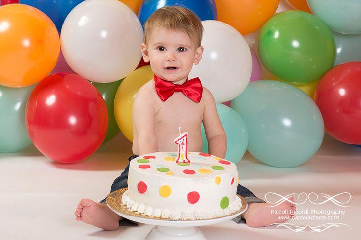 Fotografo Cake Smash Milano | Servizio Fotografico Primo Compleanno | Bimbo con torta