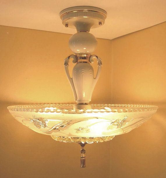Light fixture vintage elegant porcelier by on etsy
