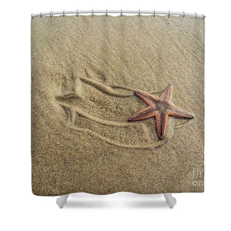starfish on the beach shower curtain by debra martz this shower curtain is made from