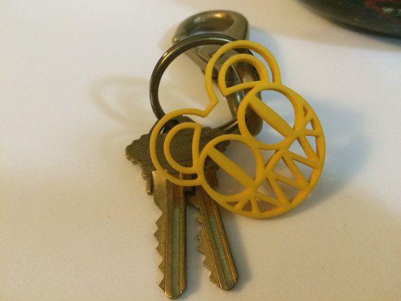 Radiohead Bear  Colored Nylon  pendant/keychain by JoyComplex
