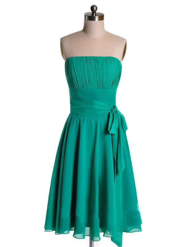 2015 Sleeveless Green Strapless Zipper Sash Ruched Short Length Homecoming / Cocktail / Prom Dresses TBQP162