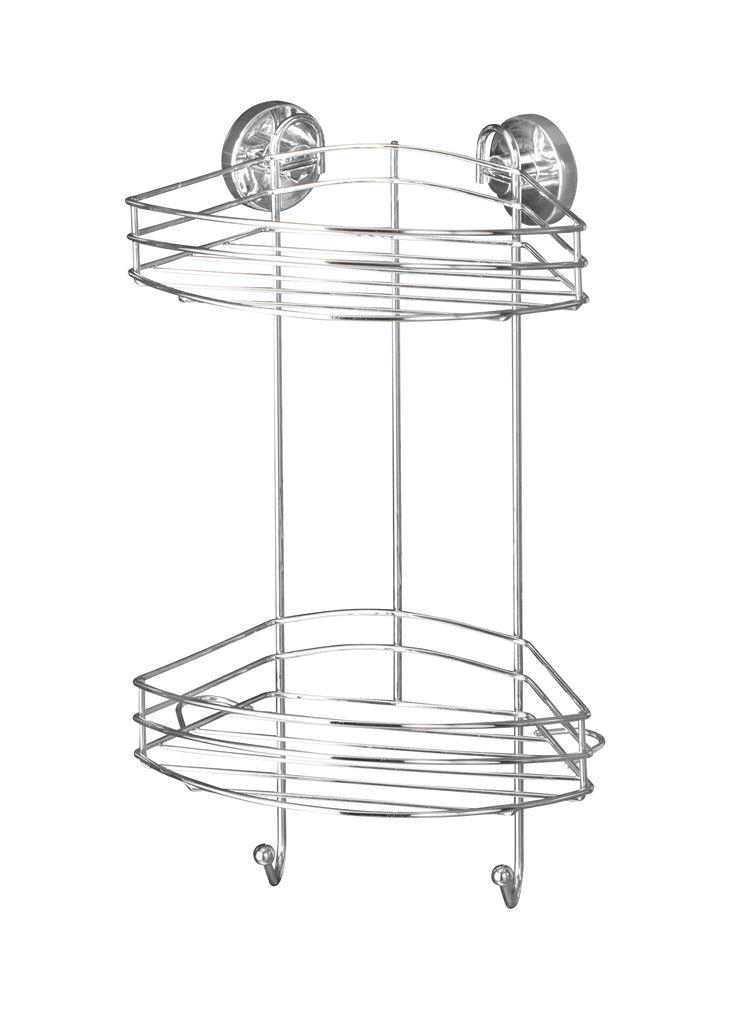 WENKO Vacuum-Loc Eckregal 2 Etagen Befestigen ohne bohren  Description: Vacuum-Loc Produkte für Ihr Bad! Das neue Sortiment umfasst Haken Duschabzieher Seifenablagen Haartrockner- und Toilettenpapierhalter die einfach in die Adapter eingehängt und direkt belastet werden können. Die Vacuum-Loc Serie aus hochglanzpoliertem verchromtem Stahl bietet außerdem eine große Auswahl an geräumigen Wandablagen die für zusätzlichen Stauraum im Bad sorgen. Es ist nicht genügend Platz im Badezimmer für die…