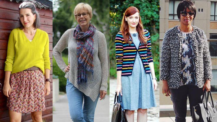 STILSIKRE DAMER: Disse damene driver moteblogger og deler villig både antrekksbilder og stiltips. Fra venstre: Highlandfashionista, Unefemme, Notdressedaslamb, Kimair. Foto: Privat