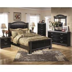 "Rent to Own Bedroom Furniture - Premier Rental-Purchase located in Dayton, OH. Signature by Ashley ""Constellations"" Bedroom Group. (937) 278-2000 - Get 50% Off Your First Payment!"