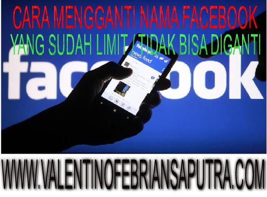 Cara Mengganti Nama Facebook Yang Sudah Limit / Tidak Bisa Diganti 2015
