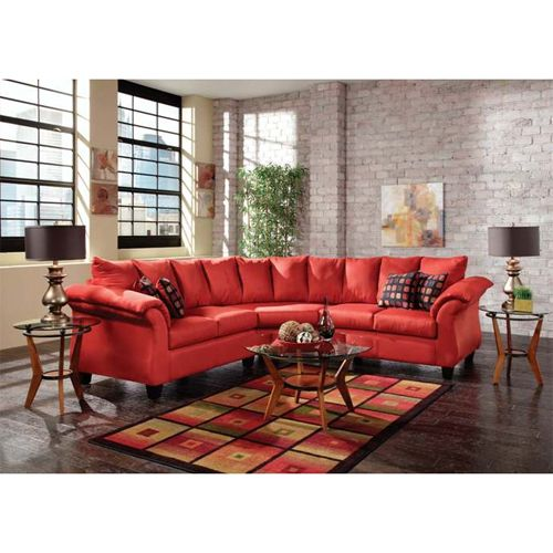 If Youu0027re Looking To Spice Up Your Living Space, This Laguna Sectional In  Red From Woodhaven Speaks And Shouts Boldness And An Instant Invitation To  Lounge.