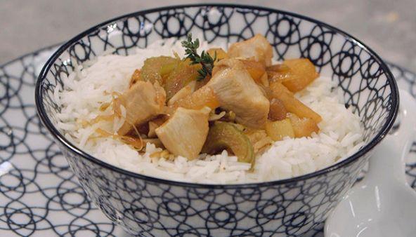 Ricette Benedetta Parodi: pollo all'ananas con riso basmati