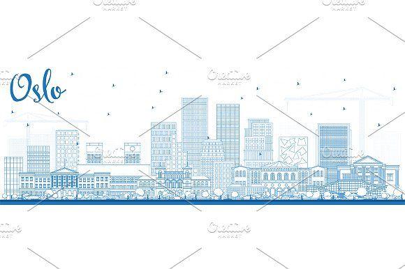 #Outline #Oslo #Norway #Skyline by Igor Sorokin on @creativemarket