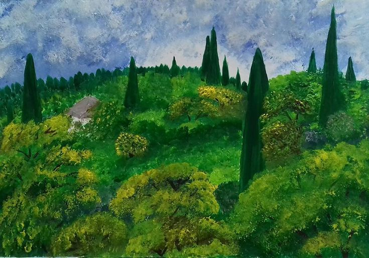 Seillans South of France: Seillans South of France Description: This was a scene from a holiday in Seillan's in the South of… #IrishArt