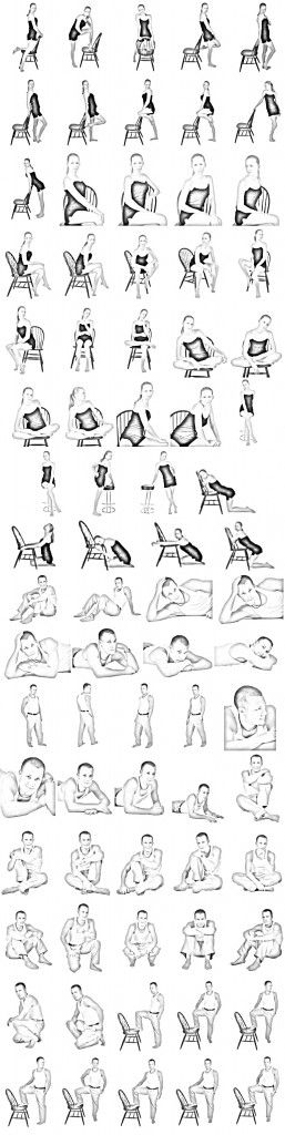 Photography - Pose ideas / chair pose ideas / male & female poses ideas