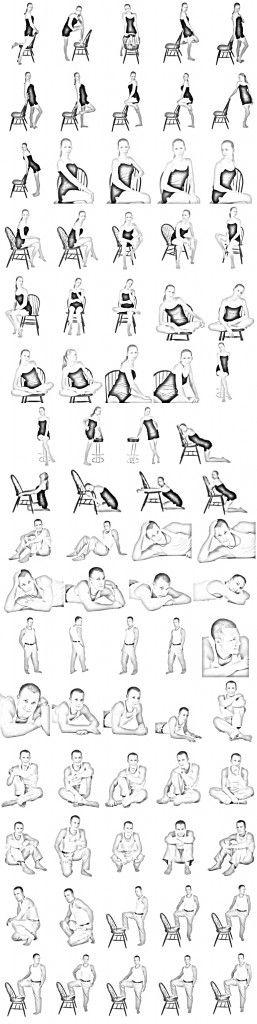 Photography - Pose ideas / chair pose ideas / male & female poses ideas