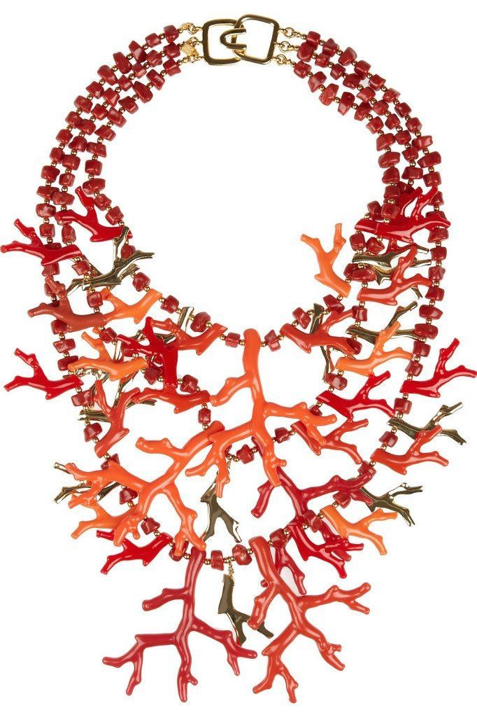 Kenneth Jay Lane Coral Fantasy necklace