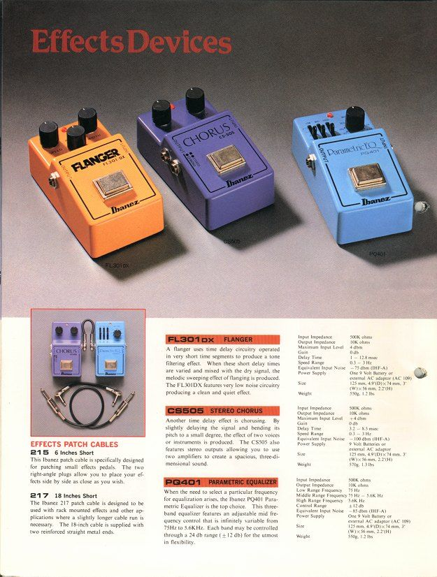 1981 ibanez electronic accessories ibanez catalogs ibanez wiki guitar pedals effects. Black Bedroom Furniture Sets. Home Design Ideas