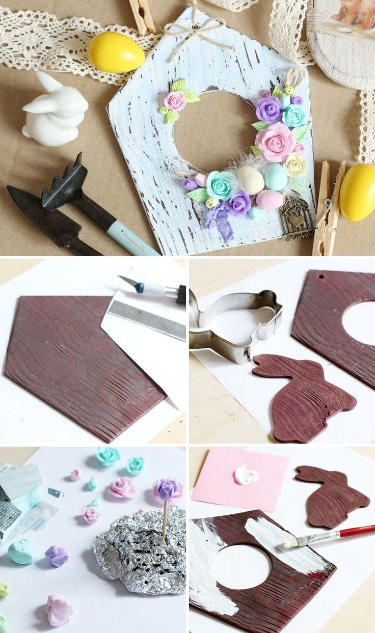 Making a Cute Easter Decoration of Polymer Clay | Создаем пасхальное украшение для интерьера из полимерной глины