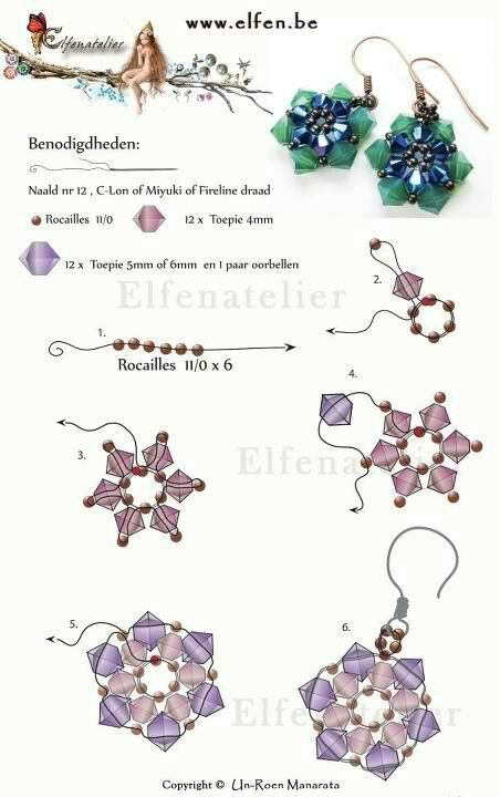 Free Pattern for Beaded Earrings                                                                                                                                                                                 More
