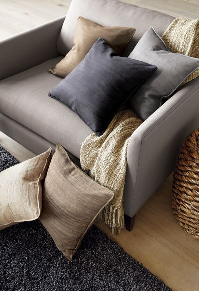 Neutrals | Crate and Barrel. My new house will have this theme!!