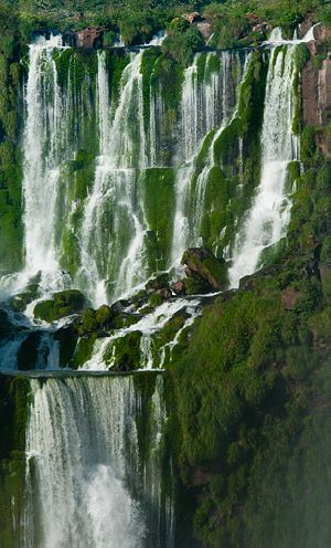 Iguazu Falls are waterfalls of the Iguazu River on the border of Brazilian State Paraná and Argentine Province Misiones.