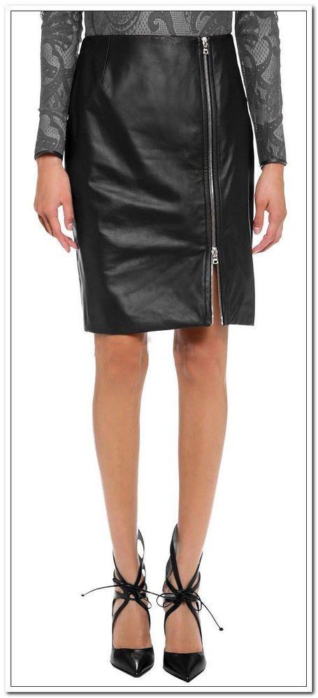 Brand New Women's Skirt Genuine Soft Lambskin Leather Slim fit Skirt WS03 #LeatherLifestyle #StraightPencil