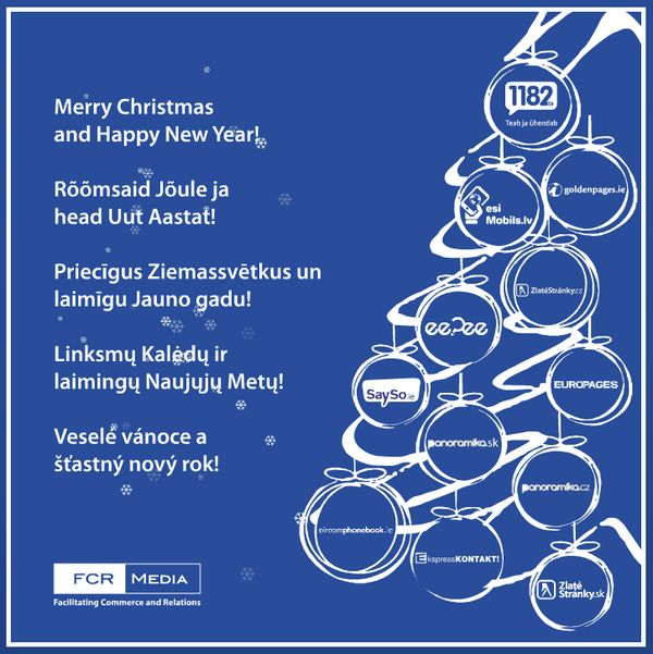 Vánoční přání 2012, FCR Media. #Mediatelcz