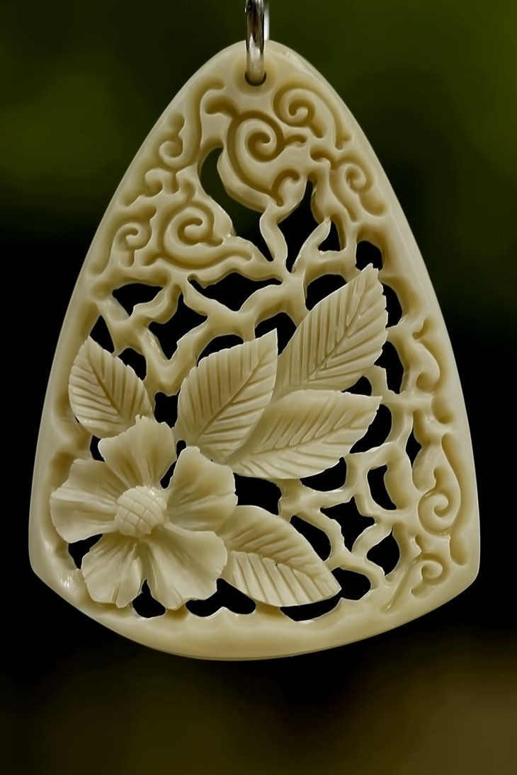 Pendant, bone carving by ~manuroartis