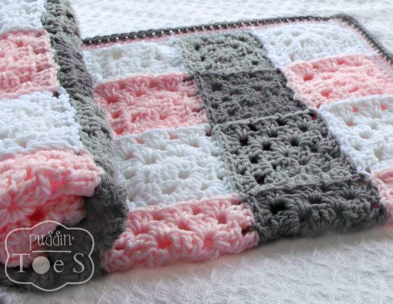 I love how using the right shades of colors makes a granny square blanket look like a tartan pattern.