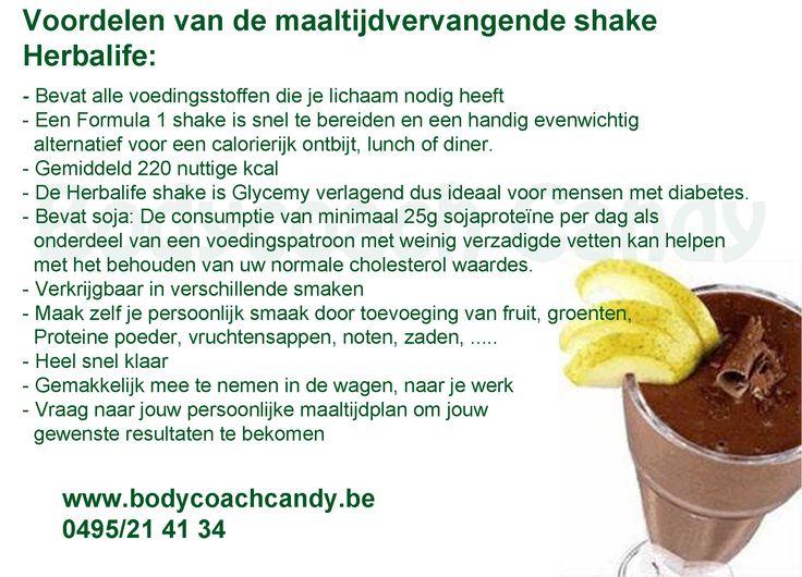 Voordelen Herbalife maaltijdvervangende shake Bestellen kan via https://www.bodycoachwebshop.be/afslanken-basisproducten/maaltijdvervangende-shake