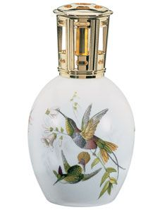 Hummingbird    A Limoges porcelain lamp in the animal chromolithography tradition so dear to collectors of old engravings.