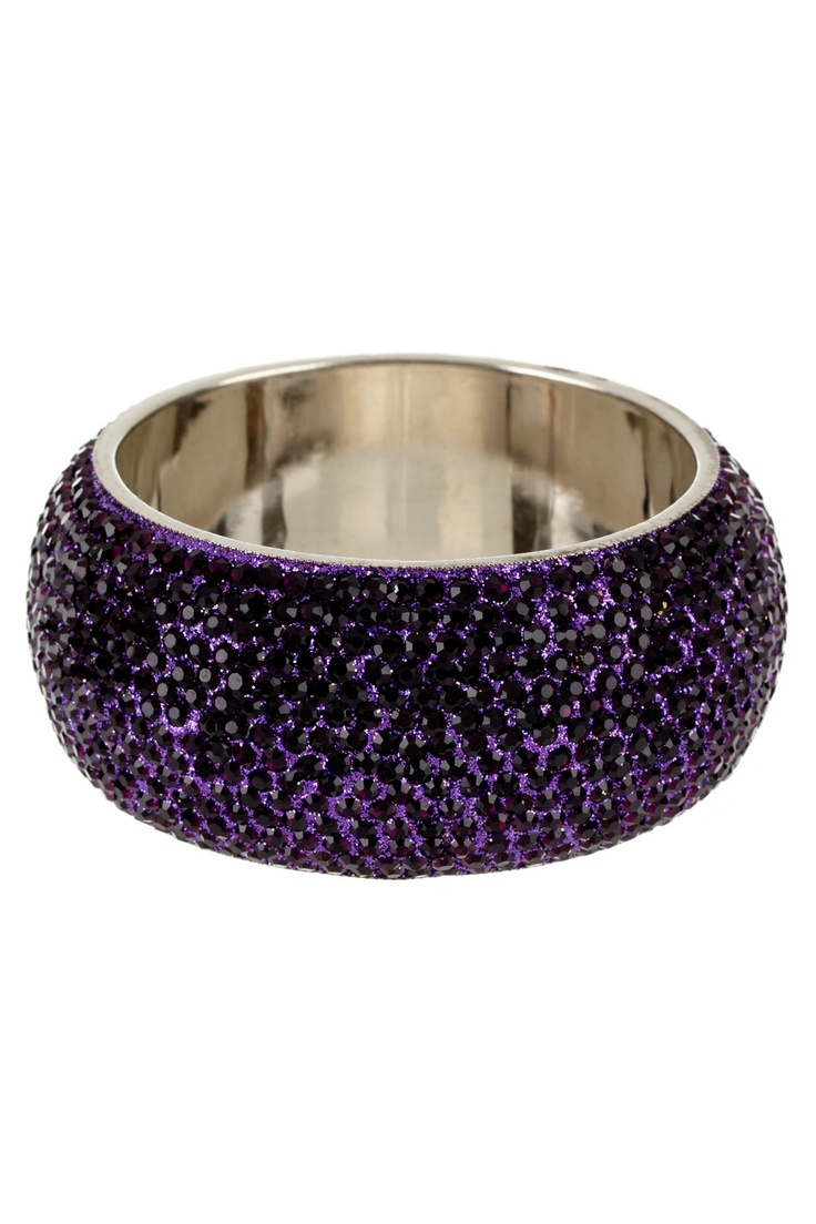 Crystal Bangle <3  I need this!: Purple Lici, Crystals Bangles, Purple Bangles, Gorgeous Accessories, Events Start, Purple Sparkle, Color Purple, Bangles Purple, Blowout Jewelry