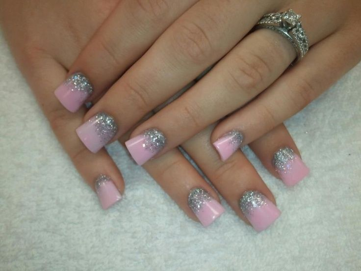pink barbie acrylic nail design