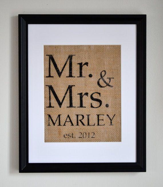 Mr and Mrs Last Name Monogram Weddings by fiberandwater on Etsy, $14.95