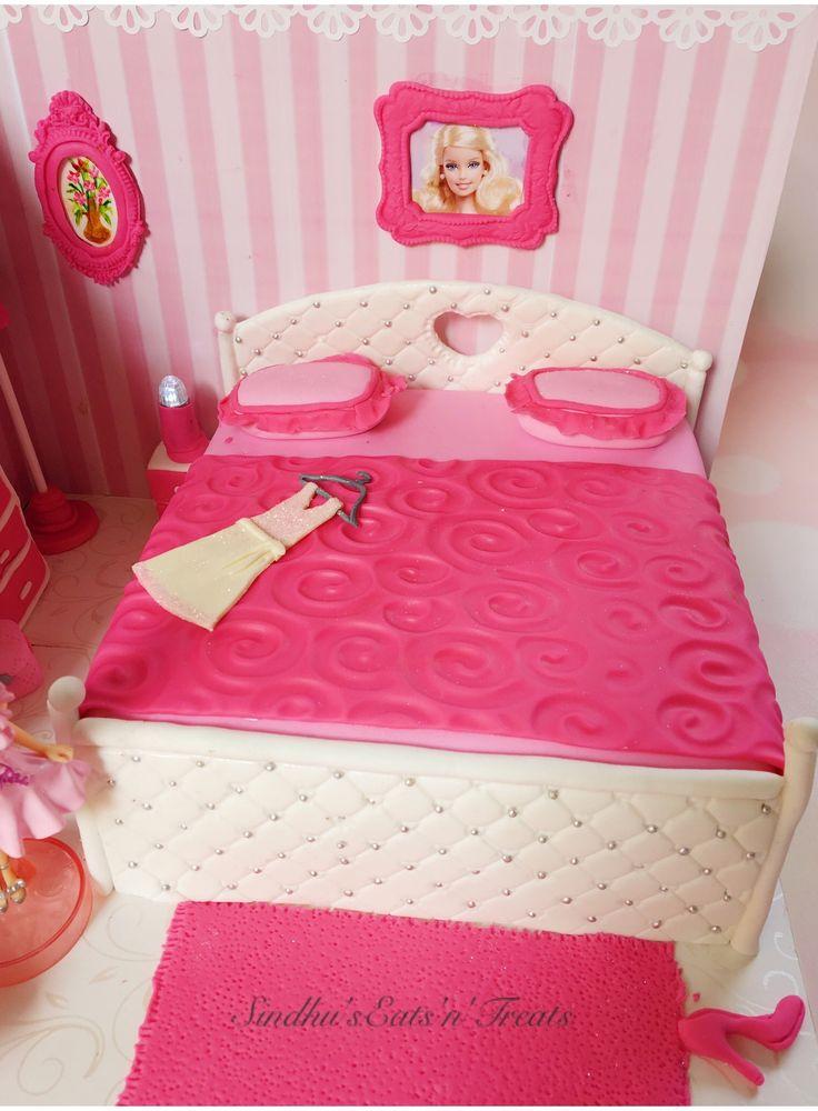Pin By Sindhus Eats U0027Nu0027 Treats On Barbie Bedroom Cake   Pinterest   Barbie  Bedroom And Cake