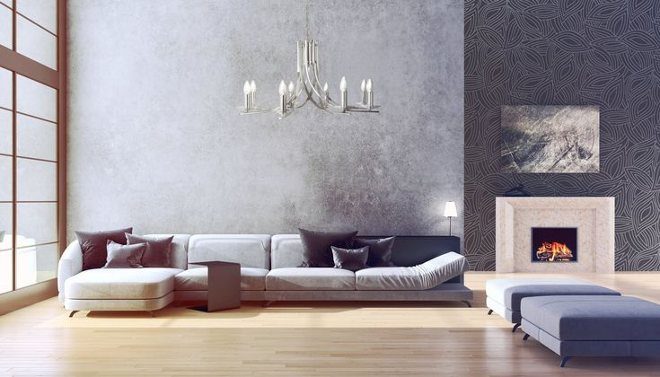 Ascona 8 Light Candle Chandelier