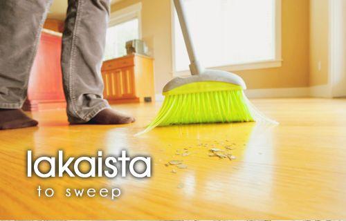 Finnish words: lakaista