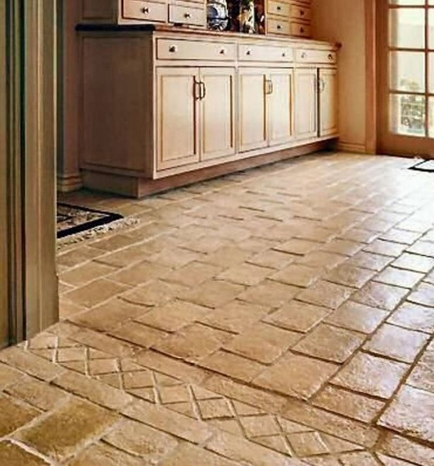 Brick floor tiles design watercress cottage pinterest for Floor brick