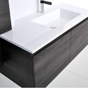 All white - Summer Slim 900mm Wall Hung Vanity, Single Bowl Instore Price: $805.00 Online Price: $599.00